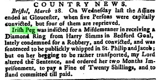 'Country News', Whitehall Evening Post (28 March 1747); Issue 176. 17th-18th Century Burney Collection Newspapers