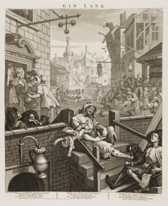 William Hogarth, 'Gin Lane' (1751) set in 'Hog Lane