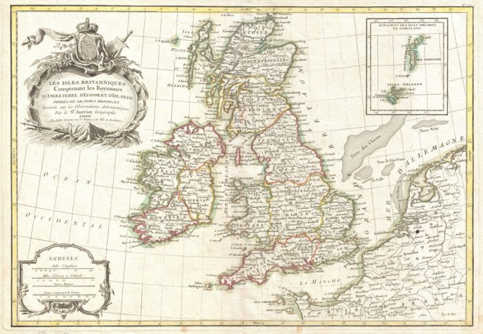 Zannoni Map of the British Isles, 1771