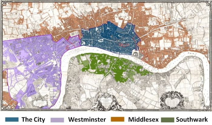 Boundaries of Westminster, Middlesex, and the City